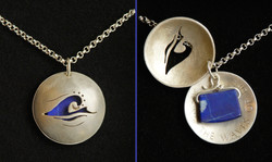 Amulett in Silber mit Lapislazuli