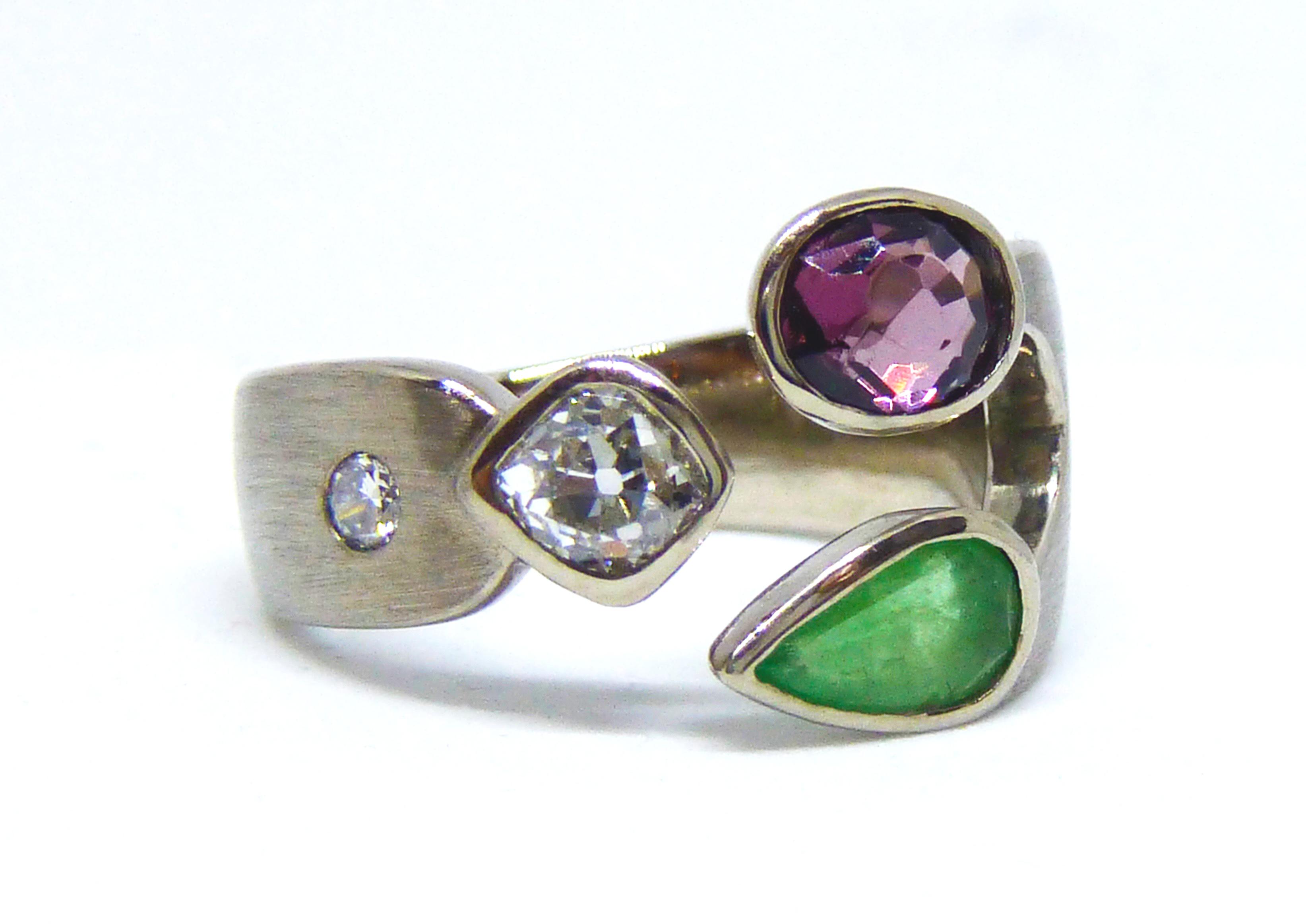 Diamant, Amethyst, Smaragd
