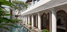 Ambassador's House - Pool and bedrooms.j