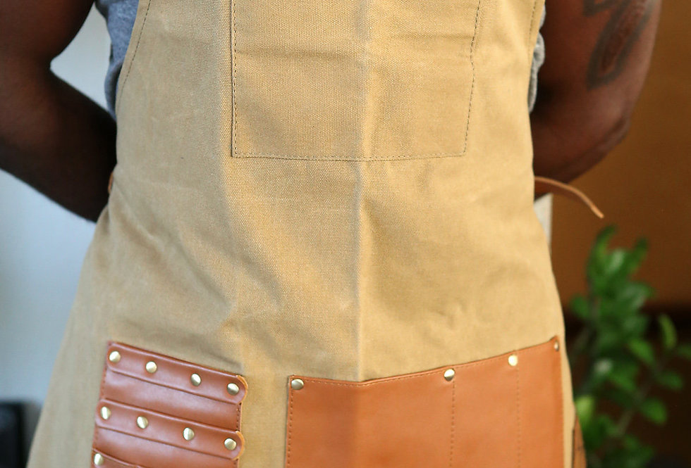 VEGAN LEATHER BARBER APRON