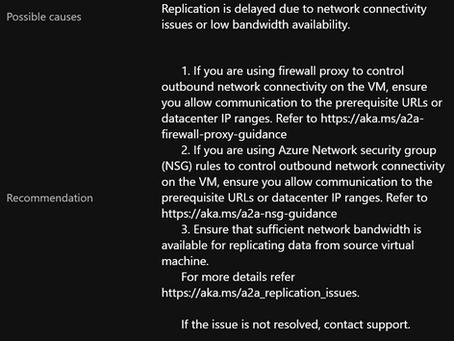 Azure Site Recovery Error 153006
