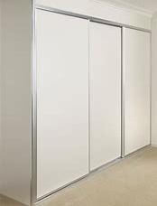 WHITE MELAMINE SLIDING DOORS - MAT NATUR