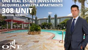 One Real Estate Investment Acquires La Villita 308-unit apartments