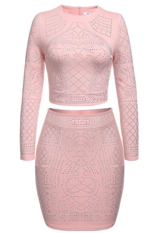 """Pink icing"" skirt set"