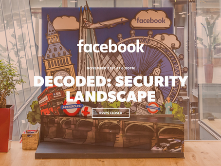Chani Simms speaking at Facebook Decoded: Security landscape