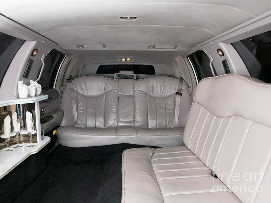 limousine interior detailing at Sparkling Star Detailing
