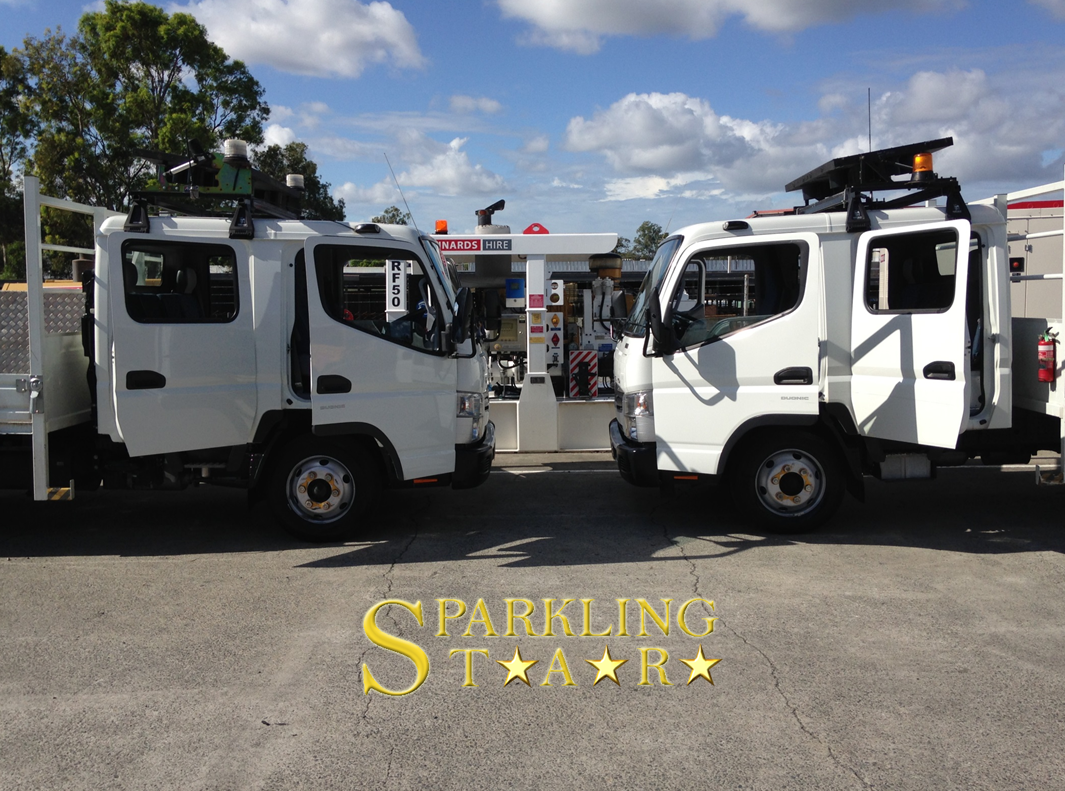 Two Trucks Detailing by Sparkling Star Mobile Car Detailing in Brisbane