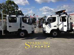 Two Trucks Detailing by Sparkling Star Mobile Car Detailing in Brisbane