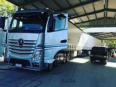 We professionally detail Trucks & Traile