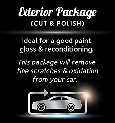 Exterior Car Detailing Package (Cut & Polish) - Ideal for a good paint gloss & reconditioning. This Package will remove fine scratches & Oxidation from your car.