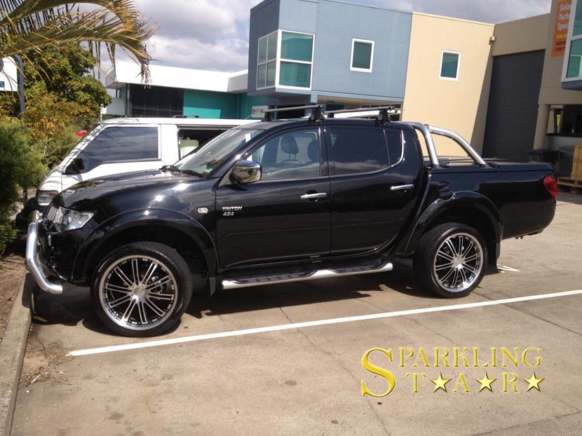 Mitsubishi Triton Machine Cut & Polish by Sparkling Star Mobile Car Detailing in Brisbane