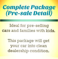 Pre-sale Car Detailing Package (Pre-sale Detail)