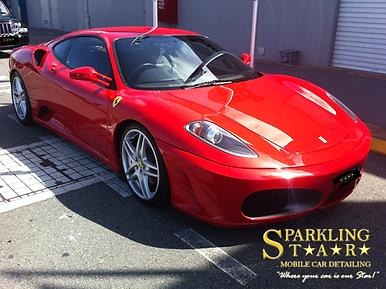 Car Detailing Ferrari Brisbane - Sparkling Star Mobile Car Detailing