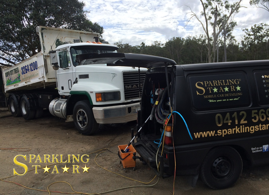 MACK Truck Detailing by Sparkling Star Mobile Car Detailing in Brisbane