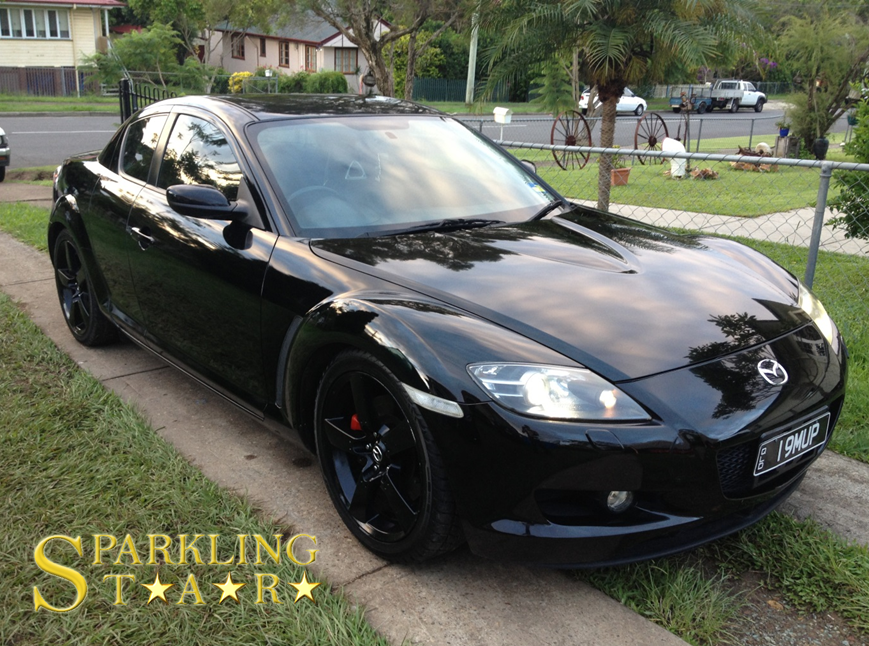 Complete Package Performed on Mazda RX8 by Sparkling Star Mobile Car Detailing in Brisbane