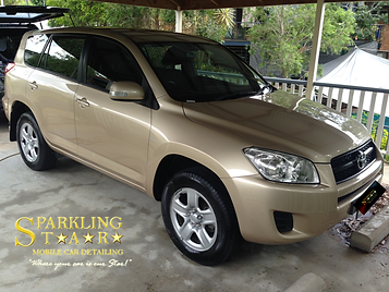 Complete (Pre-Sale) Package Performed on Toyota RAV4 by Sparkling Star Mobile Car Detailing in Brisbane