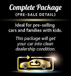 Complete Car Detailing Package (Pre-sale Detail) (Interior + Exterior Package = Complete Car Detailing Package