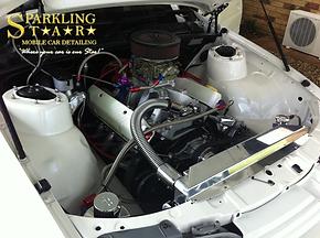 Engine Bay Detailing Performed by Sparkling Star Mobile Car Detailing in Brisbane