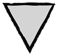 Grunge Triangle - Grijs