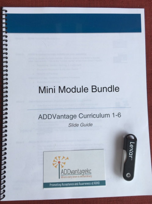 Fast-Pace: ADHD Course Material Mini Modules