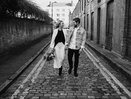 Romantic Elopement shoot in Shoreditch.