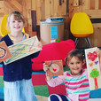 Our first little string art makers! with
