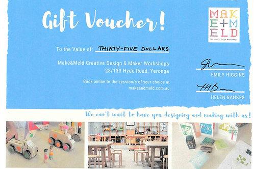 $35 Make&Meld Gift Voucher
