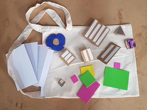 Bag and Card Printing Kit with DIY Stamps