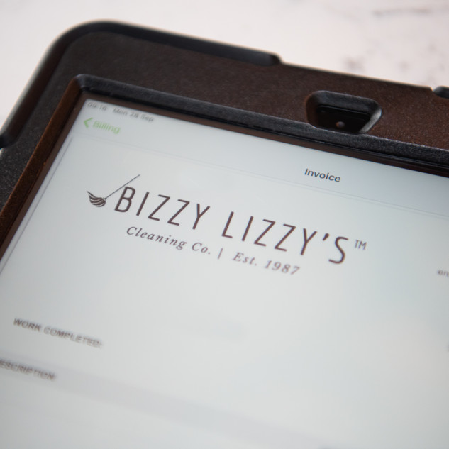 Brand new Bizzy Lizzy's Cleaning Co invoicing software