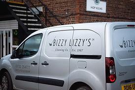 Bizzy Lizzy's Cleaning Van