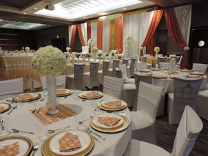 Grand Hall Reception with custom custom draping.