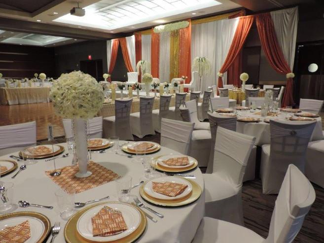 Grand Hall Reception with custom custom draping.