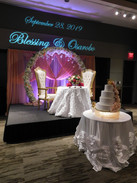 Sweetheart table with custom GOBO in Grand Hall