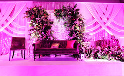 Grand Hall Quinceanera stage with custom decorations