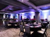 Grand Hall banquet set with custom GOBO