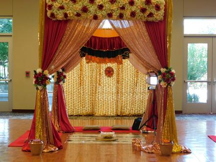 Dance Floor with custom Ceremony set up