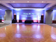 Grand Hall dance floor and custom GOBO