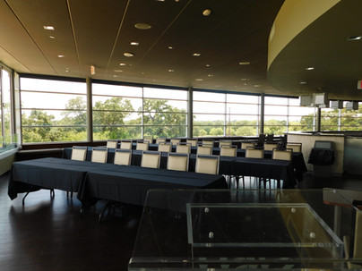 Terrace Business meeting with classroom seating