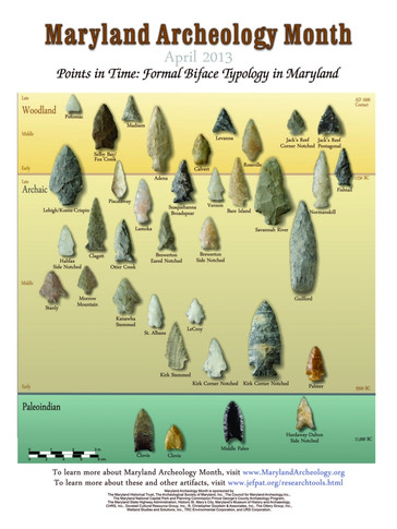 Points In Time: Formal Biface Typology In Maryland