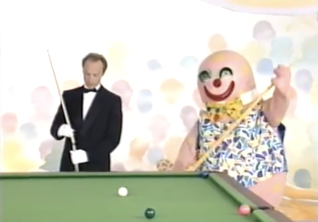 Mr Blobby tries snooker