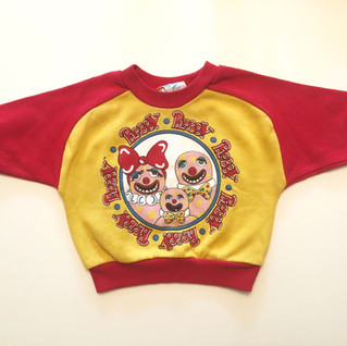 Toddlers' sweater featuring the Blobby family