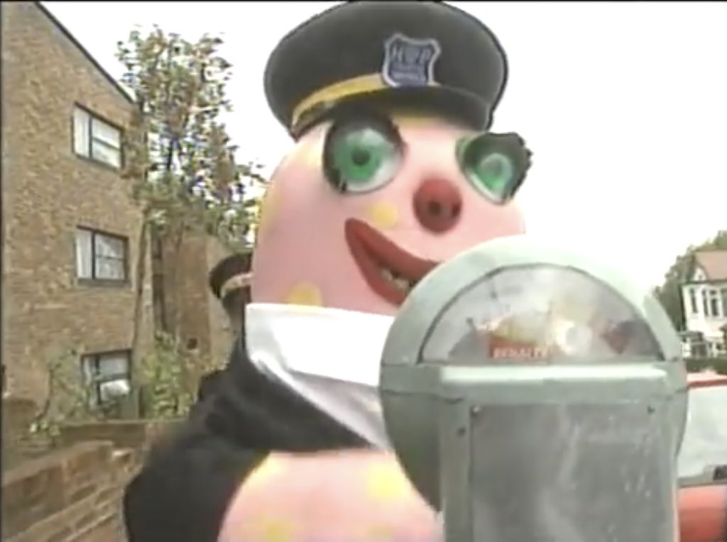 Mr Blobby the Parking Attendant