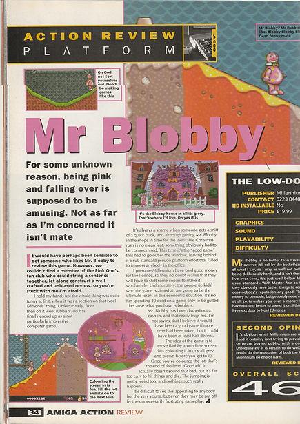 Mr Blobby Amiga