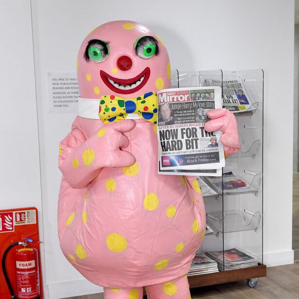 Mr Blobby for the Daily Mirror