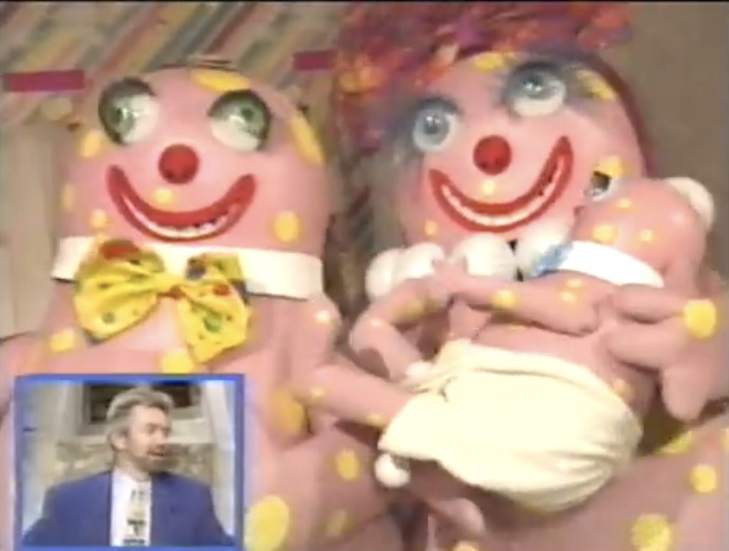 Baby Blobby's first appearance!