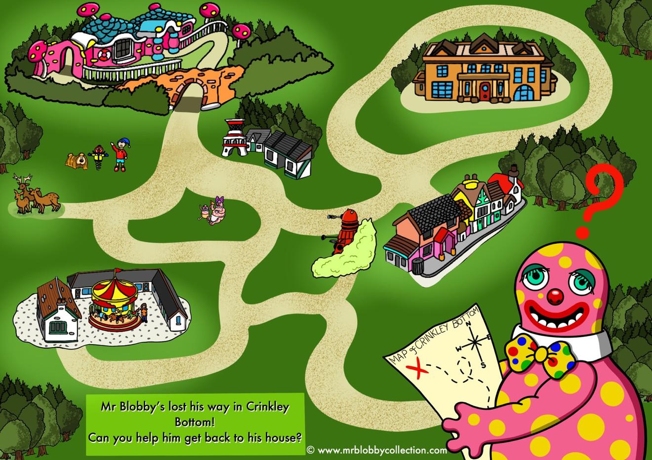 Crinkley Bottom Maze