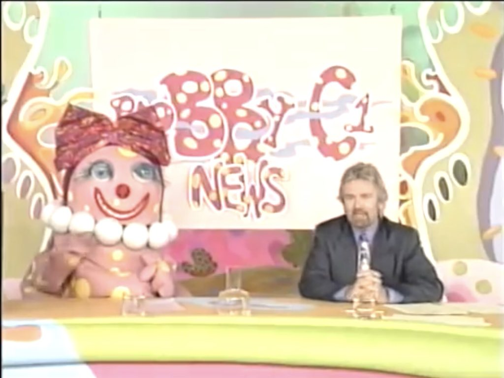 Mrs Blobby presents the news