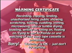 Warning Certificate