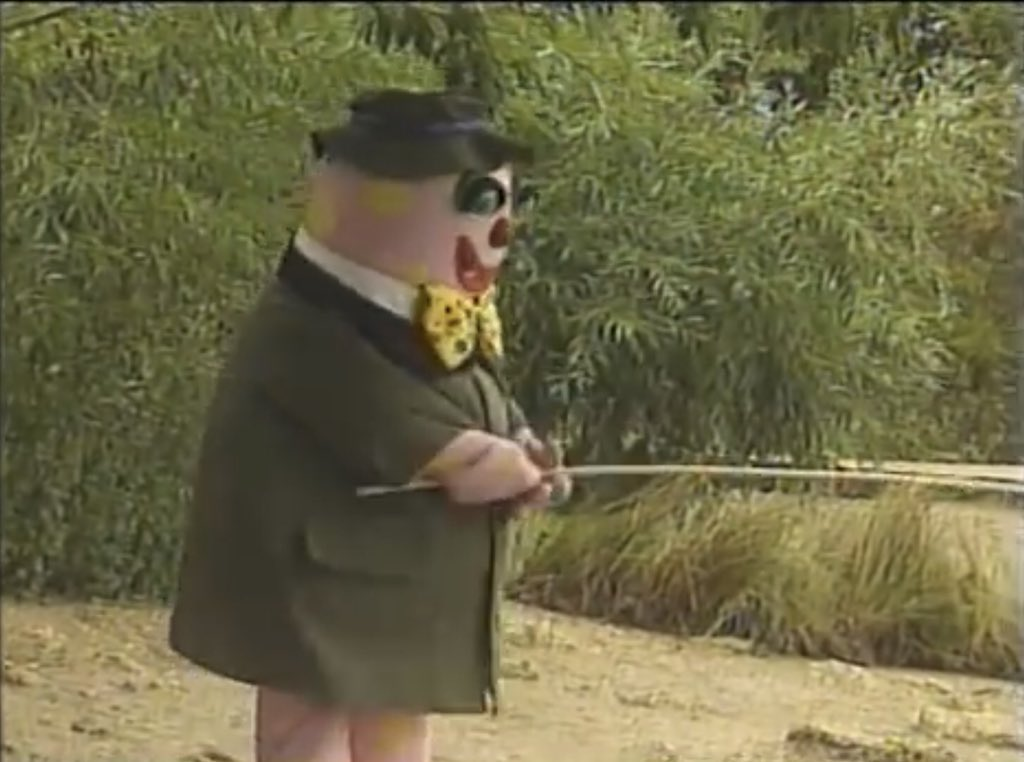 Mr Blobby goes fishing