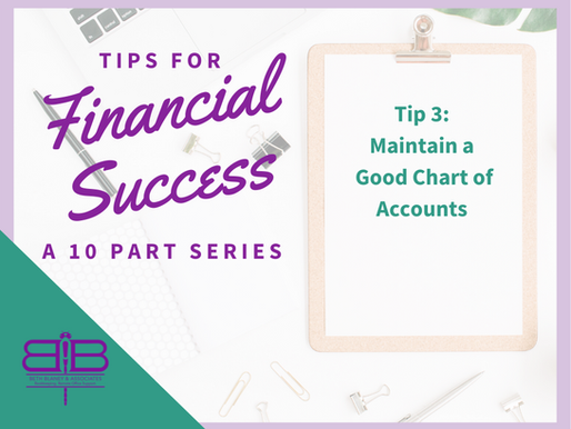Tip 3 of 10: Maintain a good chart of accounts